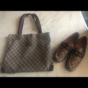 Vintage Gucci loafer & shopping bag